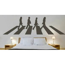 B Vinil Decorativo Beatles Abbey Road Gigante 1.8mts.x60 Cm.