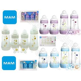 Set,kit Mam 4 Teteros Anticólicos Rosados, Azules O Beige