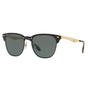 Óculos De Sol Ray-Ban Clubmaster Cor Principal Dourado no Mercado ... 18062dc748