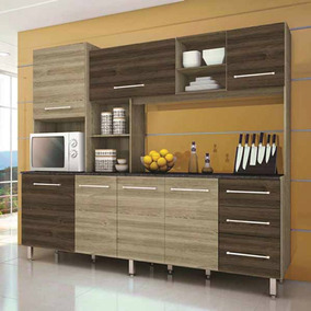 Cozinha Compacta Orquídea Ii 7 Portas 3 Gavetas Irmol Móveis