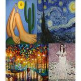 Poster Obra De Arte Pintores Famosos Tarsila Gogh Miró Monet