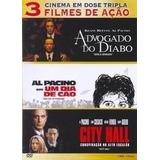 Dvd Al Pacino Advogado Do Diabo + Um Dia De Cão + City Hall