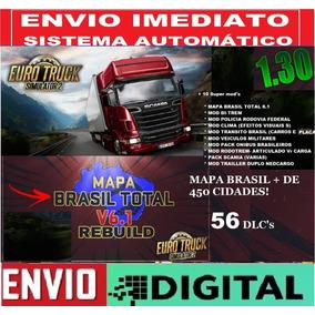 Euro Truck Simulator 2 Vr 1.30+bitrem+mapa Brasil+56dlc