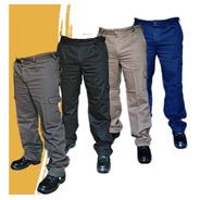 Pantalón Cargo De Trabajo Tipo Grafa Marca Maser Sanforizado