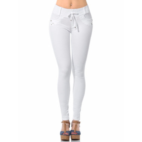 - Pantalon Blanco Fergino Jareta Gabardina Stretch Szp354