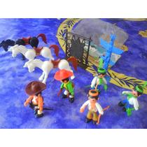 Muñecos Super Charly Italia (tipo Playmobil) Lote X 8 + Acce