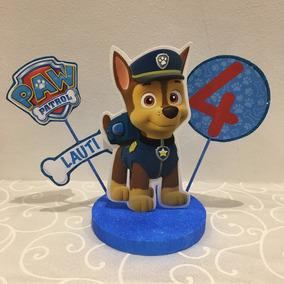 Adorno Torta Paw Patrol Patrulla Canina Chase Marshall Skye