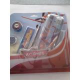 Cartucheras Metalizadas Disney Aviones & 5 Piezas Niños