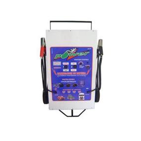 Carregador De Bateria 50 Amp Com Rodas E Auxiliar De Partida