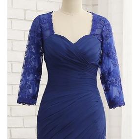 Vestido De Noche Color Azul Rey Talla Extra (3xl)