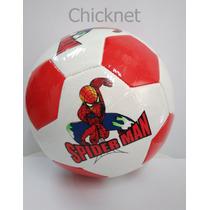 Bola De Futebol Homem Aranha Couro Sintético- Linda!!!