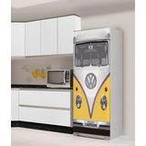 Adesivo Geladeira Freezer Envelopamento Kombi Fusca Vw Retro