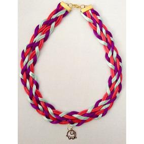 Collar Dije Oro Laminado Vintage Bisutería Accesorio Mujer