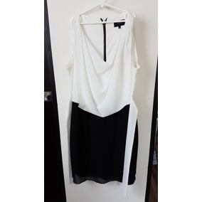 Vestido Formal Blanco Y Negro Con Moño Marca Salsa