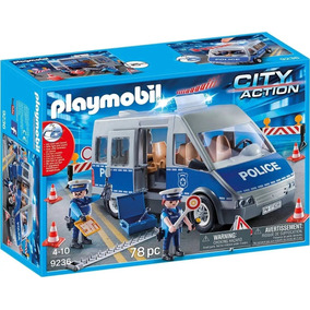 Camioneta Furgon De Policia Playmobil C/ Luz Y Sonido - 9236