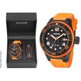 Relógio Magnum Masculino Oversized Ma34021c + Brinde + Nf