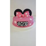 Torta Minnie Y Mickey Infantil Bautismo,comunion,cumpleaños