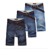 Bermuda Jean Vaquero Pantalon Corto Short Pantalones Verano
