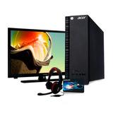 Computadora Acer Aspire X Intel Inside 500gb Dd 4gb Ram Dvd