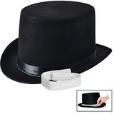 Nj Novedad - Sombrero De Fieltro Negro, Traje De Vestir Par