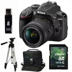 Nikon D3400 Kit 18-55 Vr 24mp Full Hd. Sd 16gb + Mochila