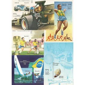 Conjunto De 5 Blocos De Selos Brasiliana Ano 1983