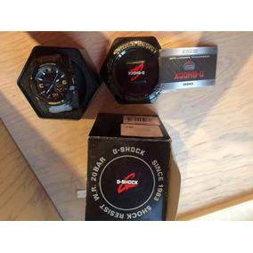 Reloj Casio G-shock Gris Con Negro Y Amarillo. Ga-1000-8a