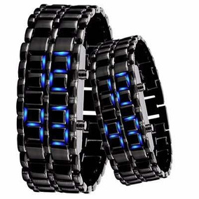 Reloj Lava Led Iron Samurai Acero Inoxidable Led Azul