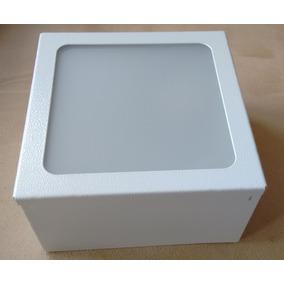 8 Plafons De Sobrepor Branco 15x15x8 Acrílico Leitoso