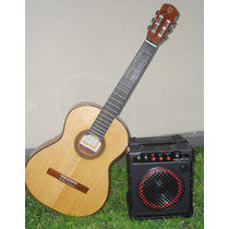Amplificador Guitarra+voz, Bateria Recargable 12v Callejero