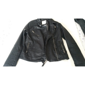 Campera Cuero Ecologico Abercrombie & Fitch Talle S