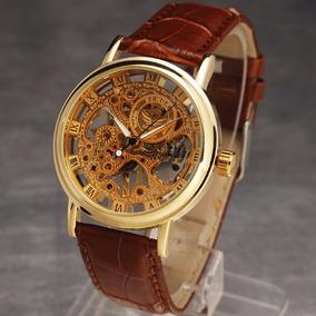 Reloj Sewor Skeleton De Cuerda Metalico