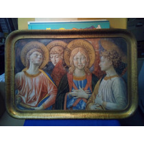 Rara Bandeja C/ Detalhe Coro Dos Anjos Gozzoli Italia Origin