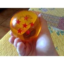 Esfera Del Dragon Escala Real 7.6 Cm De Crystal Ambar