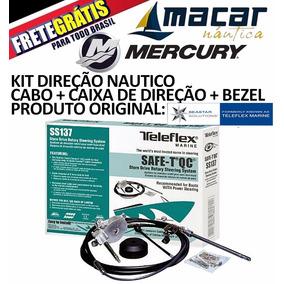 Kit Cabo Direção Teleflex 12 Pés Caixa Direção Safe-t Bezel