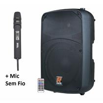 Caixa Ativa Staner Sr315a Usb/bluetooth + Mic S/fio Novik