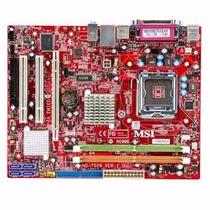 Placa Mãe Pos Mig31ag 775 / Ddr2 /pci Ex/suporta Quad Core !