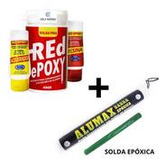 1 Solda Fria Red Epoxi E 1 Alumax Verde Evaporador Geladeira