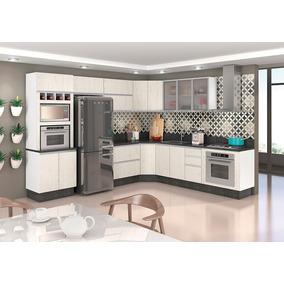 Jogo De Cozinha Modulada Kali Premium 100% Mdf