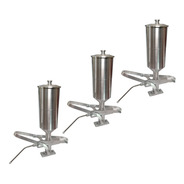 Kit 3 Doceiras Recheadeira De Churros Aluminio 2 Litros Doce