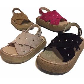 Sandalias De Nena Con Flecos Cruzados Moda 2018