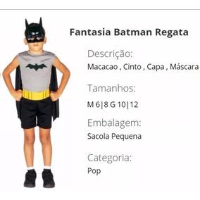 Fantasia Original G Batman Morcego Roupa Heroi + Frete