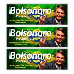 Adesivo Pres. Bolsonaro 30x10cm - Promoção