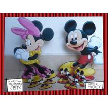 Souvenir Evento Aplique Madera 30cm Disney Mickey Minnie
