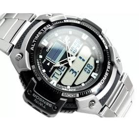 Relógio Casio Outgear Sgw-400-hd Altimetro Barometro Aço Ga
