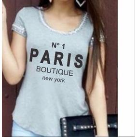 Blusa Feminina Bordada C Pedrarias T-shirt Camiseta Look
