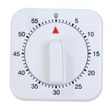 Temporizador Timer De Cozinha Manual Quadrado 60 Min Relógio