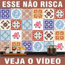 Adesivo Azulejo Imitando Pastilha Ladrilho Português 15x15cm