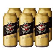 Miller Rubia . Cerveza . 473ml X 6 - Tomate Algo® -