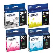 Combo Cartucho Epson T207 Negro + T206 Colores Original